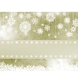 Elegant christmas background with snowflake EPS 8 vector image vector image