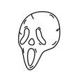 evil mask icon doodle hand drawn or black outline vector image