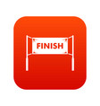 finish line gates icon digital red vector image vector image