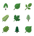 flat icon ecology set of timber park leaves and vector image vector image