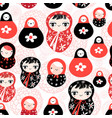funny pattern with dolls vector image vector image
