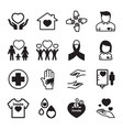give and protect icons set vector image