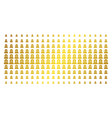 grave gold halftone pattern vector image vector image