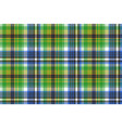 green tartan seamless fabric texture vector image