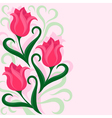 Greeting card with tulips flowers vector image vector image