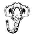hand drawn elephant mammoth on a white vector image vector image