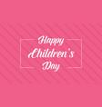 happy children day pink background style