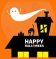 haunted house roof attic loft light on boarded-up vector image vector image