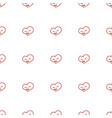 heart icon pattern seamless white background vector image vector image