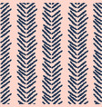 herringbone blue and pink hand drawn simple vector image vector image
