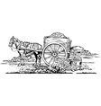 Horse Cart vector image