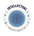 intellectual property rights day isolated icon vector image vector image