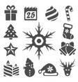 isolated christmas icons set vector image