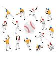 isometric baseball icon set vector image vector image