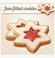 jam filled cookies cartoon vector image vector image