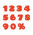 Knitted numbers set vector image vector image