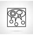 Line icon for teamwork vector image
