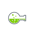 Liquid laboratory chemist logo vector image