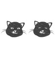 logo cat cat head silhouette design template vector image