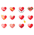 loving hearts set vector image vector image