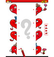 match halves of hearts educational game vector image