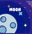 moon natural satellite vector image