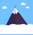 mountain infographic peak steps vector image vector image