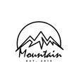 mountain logo design template vector image vector image
