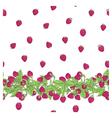 pattern raspberry border vector image