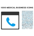 Phone Calendar Page Icon With 1000 Medical vector image vector image