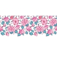 pink blue kimono flowers horizontal border vector image