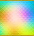 pink green blue rows of triangles background vector image vector image