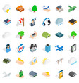 plane terminal icons set isometric style vector image vector image