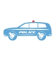 Police car flat design vector image vector image