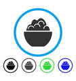 porridge rounded icon vector image