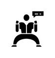 powerful manager black icon concept vector image vector image