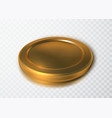 realistic gold coin isolated on transparent vector image vector image