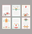 recipe cards culinary book blank pages cookbook vector image vector image