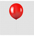 red balloon isolated transparent background vector image vector image