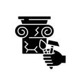 restoration black glyph icon vector image vector image