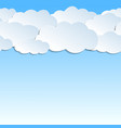 seamless pattern 3d clouds paper vector image vector image