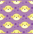 seamless pattern with blowfish sea vector image vector image