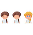set of girl character vector image vector image