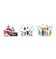 set people celebrating victory over covid-19 vector image