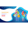 shopping teamwork important world business vector image vector image