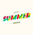 summer font colorful style modern vector image vector image
