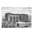 Temple of Hathor engraving vector image vector image