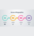 timeline with 4 circles steps number options vector image vector image