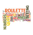 your guide on how to play roulette text vector image vector image