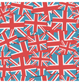 uk flag pattern vector image
